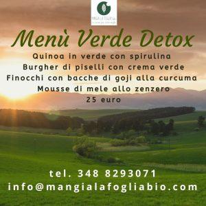 Menù Verde Detox